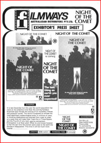 Australian Cinema Press Sheet for display