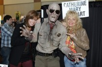 Sidney Cumbie meets Catherine Mary Stewart and Kelli Maroney at Monsterpalooza 2012. www.ishootthedead.com.
