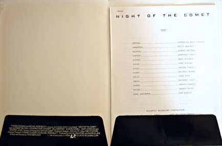 Night of the Comet Press Kit / Atlantic Releasing Corporation