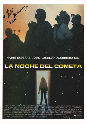 Front of Spanish Press Sheet (This example has been signed by Kelli Maroney)