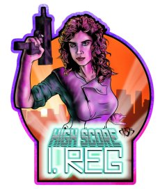 High Score Decal from Damaged Brain Designs